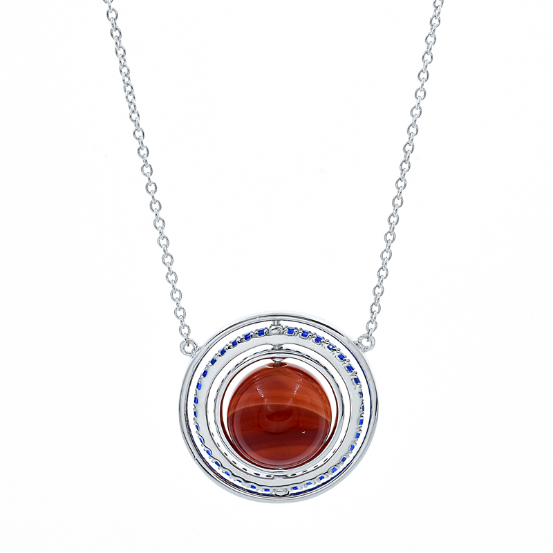 Silver Carnelian Necklace