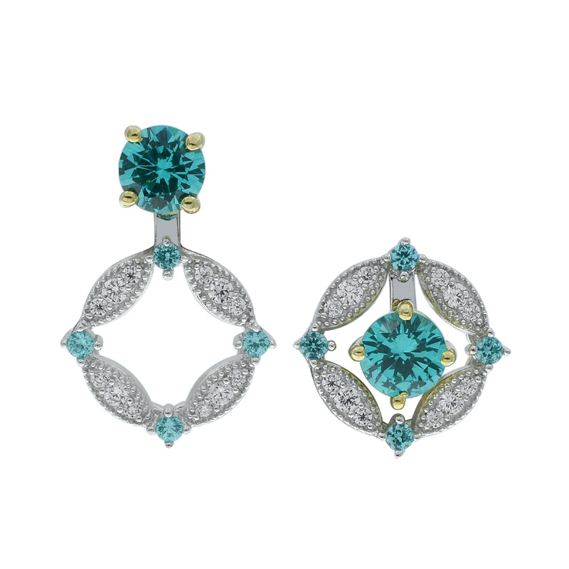 beautiful silver paraiba earrings for ladies