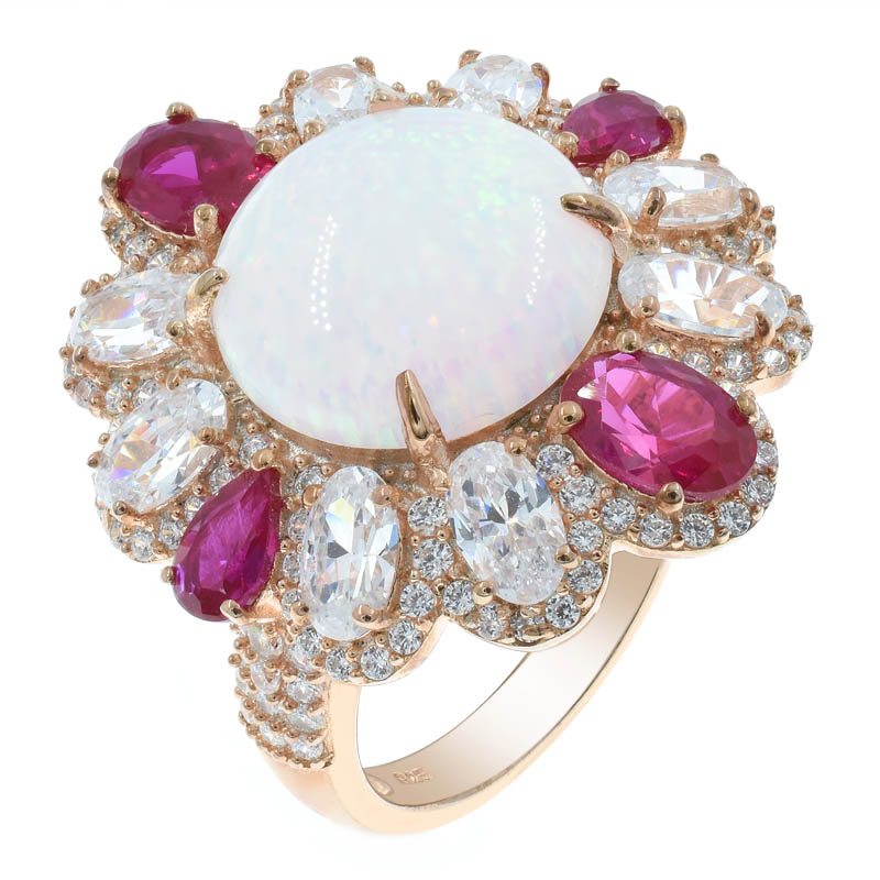 Splendid Flower Opal Women Ring