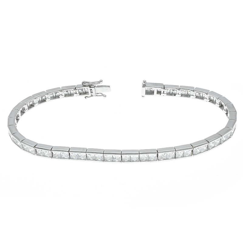 Women Tennis Bracelet With Clear Stones