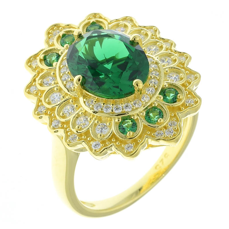 Women Lace Flower Ring For Ladies