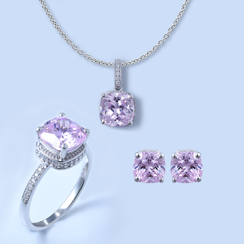 Solitaire Jewelry Set For Ladies
